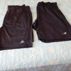2 pair black athletic shorts